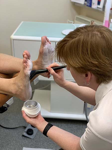foot people lindsay chiropody podiatry warm wax therapy